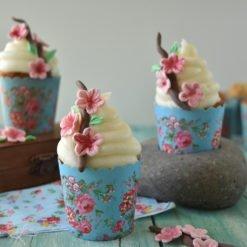 Cupcake primavera alle mandorle