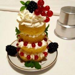 Mini Wedding Cake ai frutti di bosco con stampo in alluminio